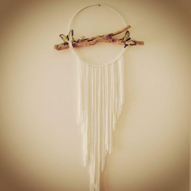 #dremcatcher#dream#dreaming#pure#white#butterfly#driftwood
