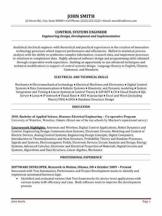 entry level electrical engineer resume new top engineer