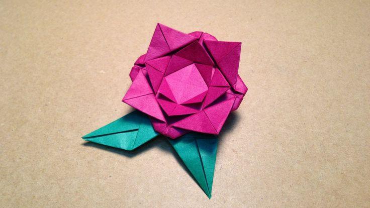 【折り紙(おりがみ)】 簡単なバラ(花びら)の折り方 作り方