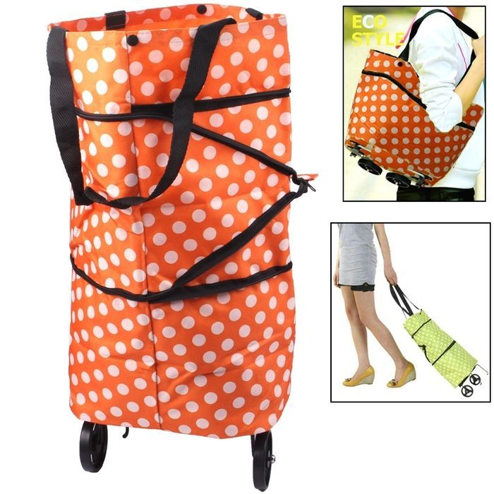 QG Portable Shopping Cart Tote Bag with Wheel / Folding Single-shoulder Shopping: Bid: 21,95€ Buynow Price 21,95€ Remaining 10 dias 03 hrs