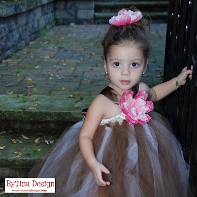 Pink/Brown Tutu Dress w/ Matching Flower Clip$46.50    Our very own handmade tutu dress! Perfect for all ages from newborn, great for crawlers, older girls - made with elastic crochet band made full and fluffy.  #kids #hair #gifts #bow #tutu #dress #photography #props #birthday #holiday