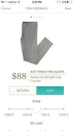 Stitch Fix Kut from the Kloth Katherine Straight Leg Trouser