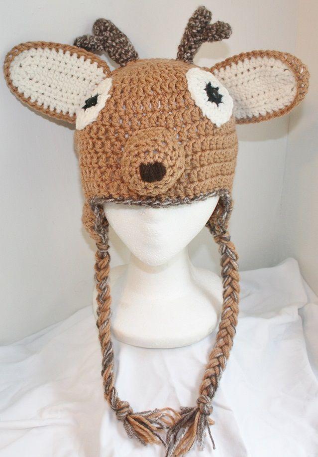 Crochet Deer Hat Pattern  990e4f2d0b2