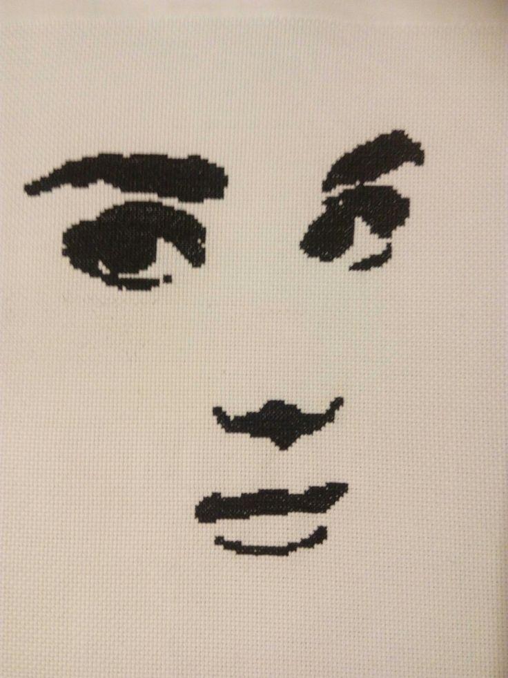 Cross stitch .Audrey Hepburn