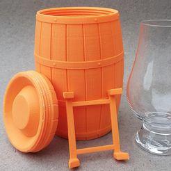 Whisky Barrel for Glencairn-glass   • Download on cults3d.com • #3Dprinting #3Dprint #3Ddesign #STLmodel #STL file #3Dmodel #3Dprinter #Impression3D #Imprimante3D #Fichier3D #Design #3Dmodeling #3D #impresora3D #impresion3D #3Dmodelo