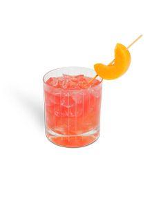 Hippie Dip (11/2 oz 360 Georgia Peach vodka 1/2 oz Amaretto Orange juice, cranberry juice)
