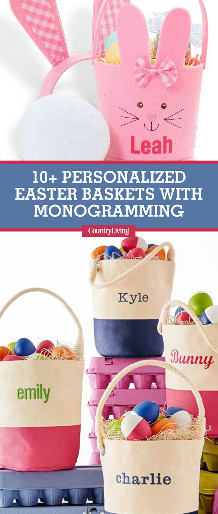 Best 25 personalized easter baskets ideas on pinterest easter 12 personalized easter baskets that take monogramming to the next level negle Image collections