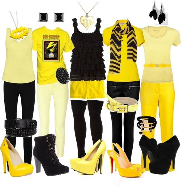 """""""Hufflepuff Outfits.."""" by alltimeinsane-slytherinmybedplzz ❤ liked on Polyvore"""