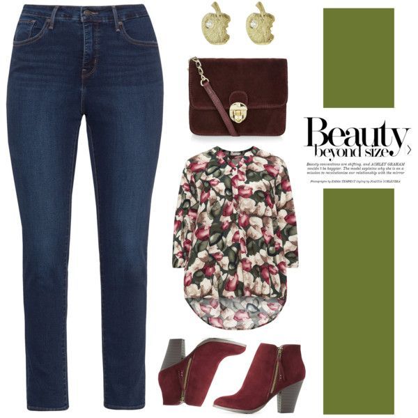 Beauty beyond size by romaosorno on Polyvore featuring polyvore, fashion, style, Gozzip, Levi's, Charlotte Russe, Victoria Cunningham, Ashley Graham and clothing