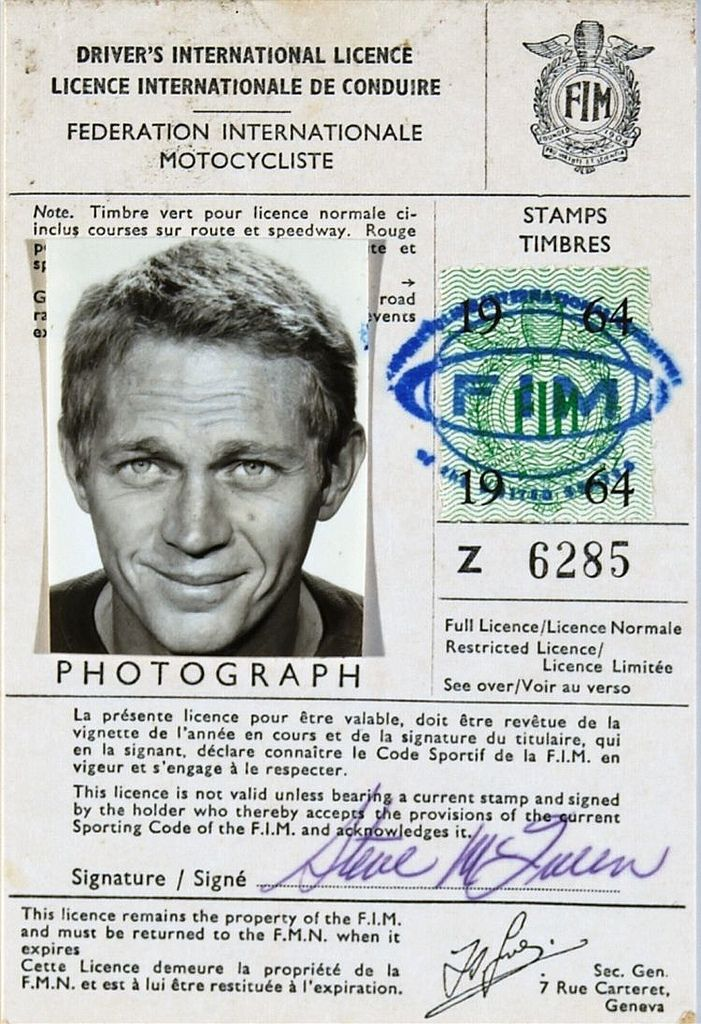 The King of Cool's drivers license   by Nigel Smuckatelli