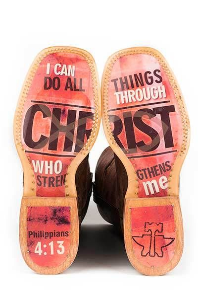 Tin Haul Women's I Believe Cowgirl Boots #Christian #Christ #AllThings #Philippians