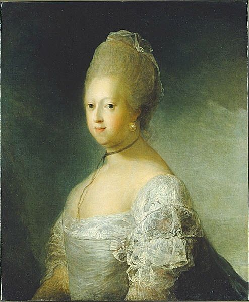 'Caroline Mathilde, Queen of Denmark' oil on canvas Carl Gustaf Pilo, between 1767-1772 (x ...