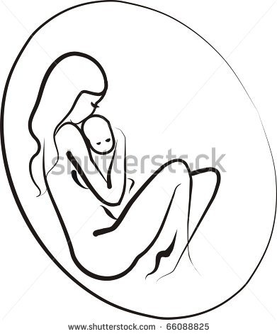 abstract mother and child | Mother And Child Stock Vector 66088825 : Shutterstock