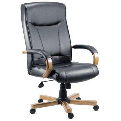 Kingston Light Oak Executive Leather Chair