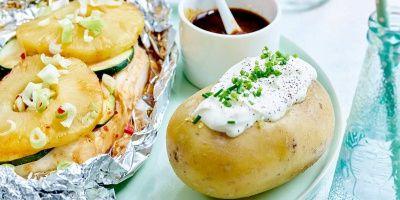 Exotische kip met ananas en aardappelen met room | Simply you