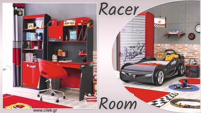 Παιδικό δωμάτιο Racer. Ένα ονειρεμένο παιδικό δωμάτιο για τους μικρούς μας φίλους που λατρεύουν τα αυτοκίνητα Δείτε όλο το δωμάτιο στο www.cilek.gr