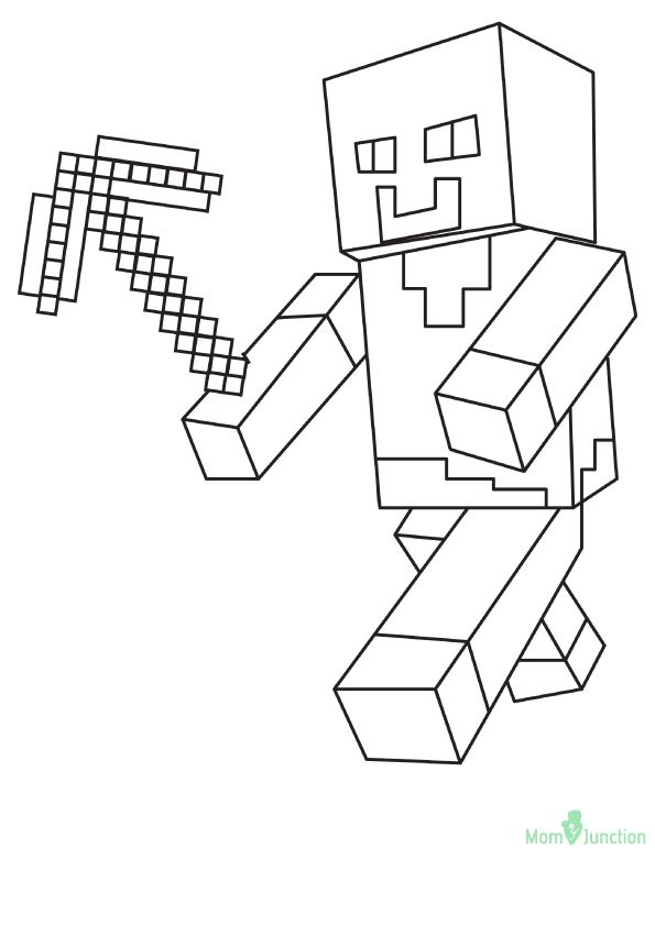 Minecraft Pickaxe O 16 Minecraft Coloring Pages Coloring Pages Coloring Books
