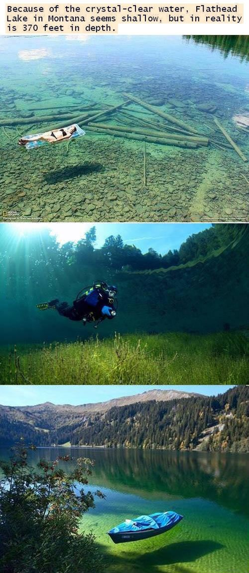 Flathead Lake, Minnesota . . . It looks shallow but it's actually 370 feet deep