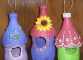 Get the instructions for these upcycled Bird houses HERE