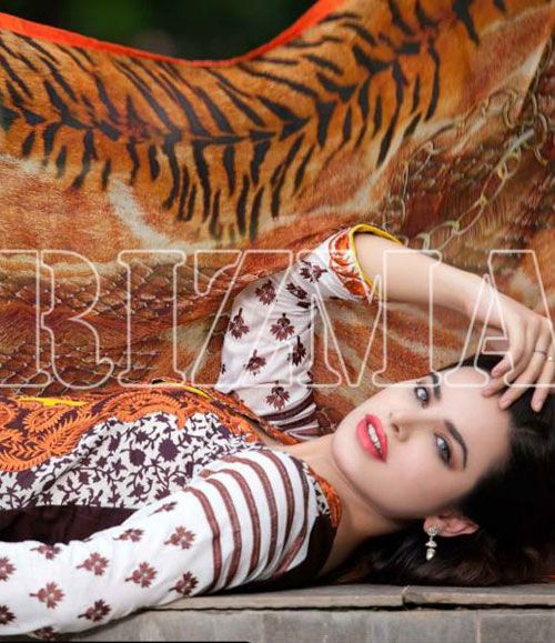 Charizma Range Embroiderd Lawn Suits Collection CR_617