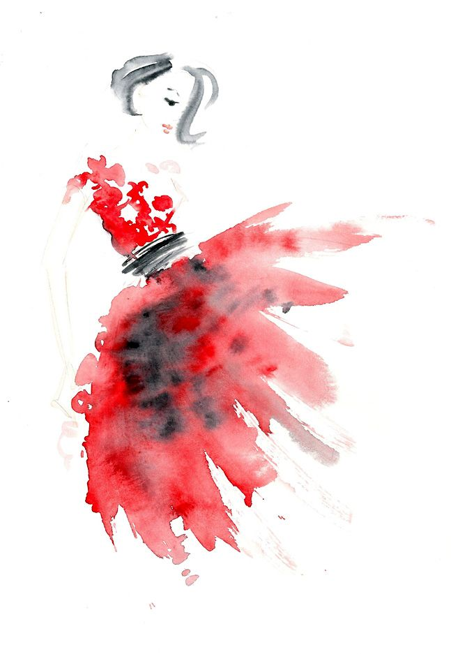 Fashion illustration | Pinned from the Board of http://www.pinterest.com/sheilahelen/artfashion-sketches/