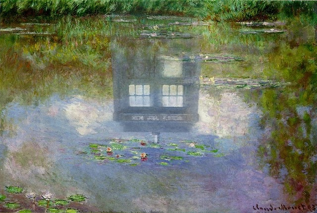 love thisClouds, Doctors Who Art, Claude Monet, Doctorwho, Art Show, Claudemonet, Altered Art, Painting, Water Lilies