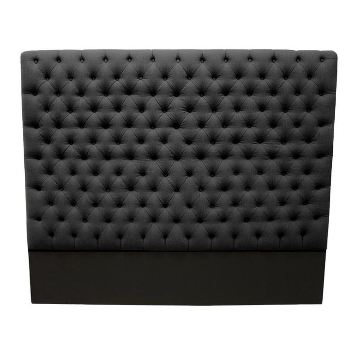 South Cone Home - Franck Queen Size Headboard in Charcoal - PATRHEADQNCHARCOAL