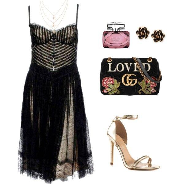 Drama Style by alyona-dobrolyubova on Polyvore featuring Dolce&Gabbana, ALDO, Gucci and Chantecler