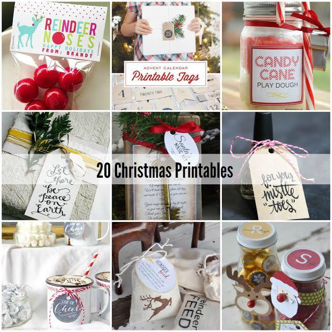 20 Christmas Printables