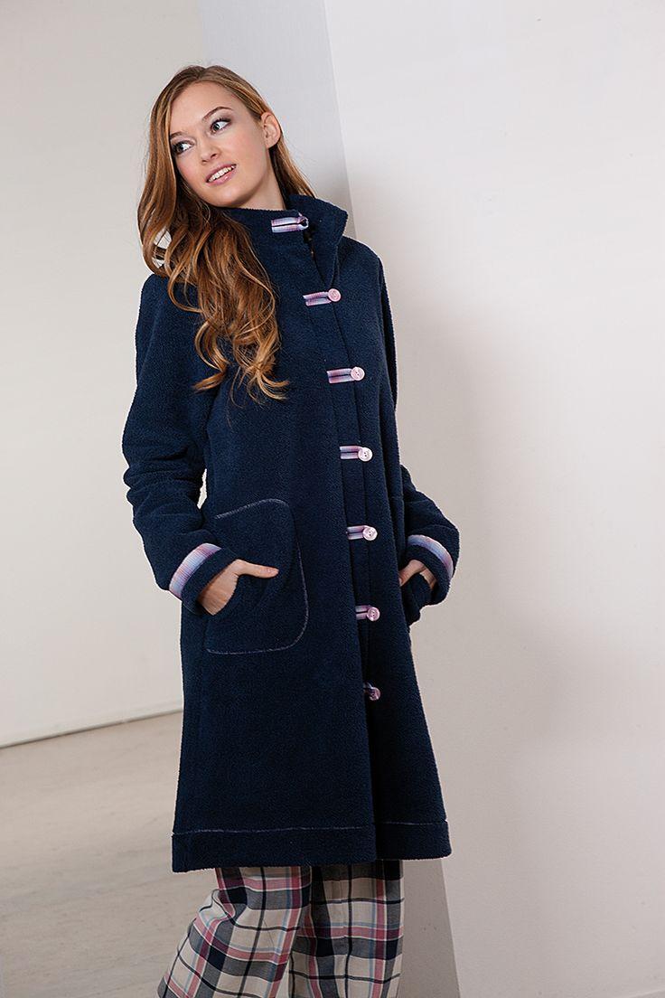 #navy #pink #homewear #dressingown #warm #bata #sleepwear #invierno #winter