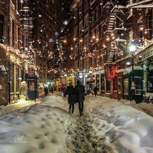 The scene in Little Italy in New York City was gorgeous during #blizzard2016. [PHOTO/Cory Schloss Images]