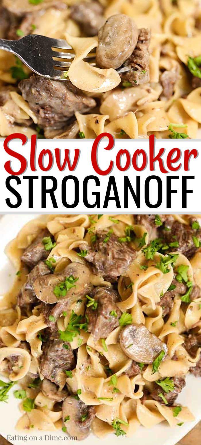 Easy Crock Pot Beef Stroganoff Recipe Simple Slow Cooker Meal Recipe Slow Cooker Beef Stroganoff Easy Stroganoff Recipe Stroganoff Slow Cooker