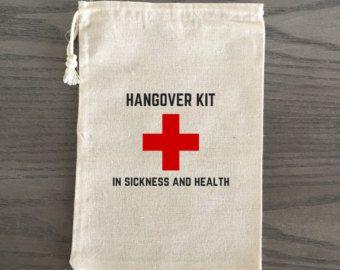 10 Bachelorette Hangover Kit gunsten Survival Kit door AlfandNoop