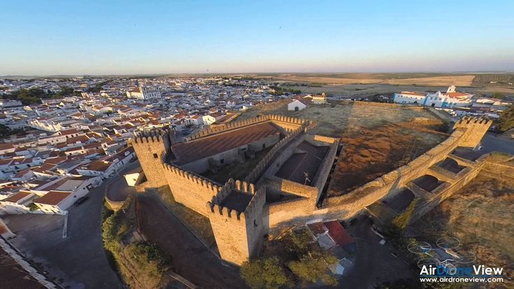 Air Drone View - Castillo de Campomayor, Portugal