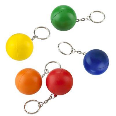 LLAVERO ANTIESTRÉS BALL REF:DIV-87   Poliuretano.  Tipo de Producto: IMPORTADO.  Medidas: 4 cm diámetro.  Área de Marca: 2.5 cm.  Técnica de Marca: Tampografía.  Colores Disponibles: Rojo, Azul, Verde, Naranja y Amarillo.