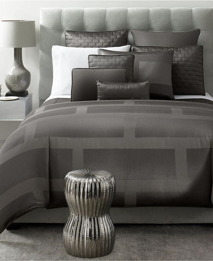 Hotel Collection Graphite Gray King Quilted Coverlet Set W 6 Pillow Shams 7 Pcs #HotelCollection #Contemporary