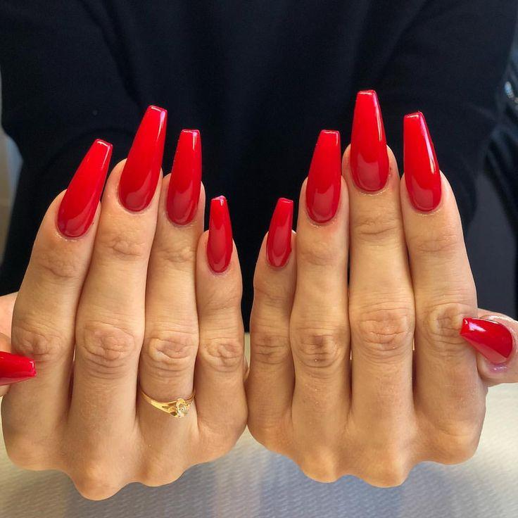 29 Red Finger Nail Art Designs Ideas: Pinterest