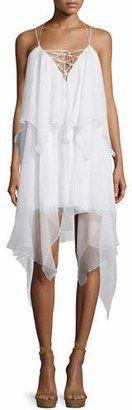 Haute Hippie Love Me Tonight Silk Handkerchief Dress, Vintage - $110.00
