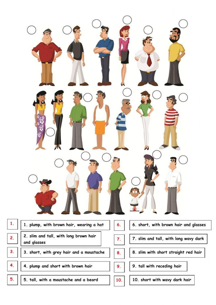 Describing people interactive and downloadable worksheet. You can do the exercises online or download the worksheet as pdf.