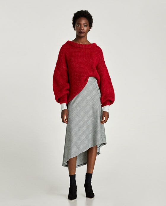 ZARA - WOMAN - ASYMMETRIC CHECKED SKIRT