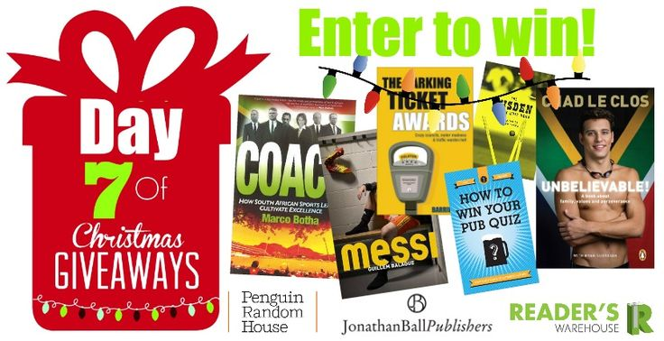 Our Day 7 Hamper sponsored by @PenguinBooksSA & @JonathanBallPub  is perfect for all sports fanatics and is filled to bursting with the most interesting books you could imagine! https://gleam.io/qYoRn/day-7-of-christmas-giveaways