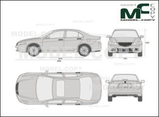 Acura TSX (2004) - drawing