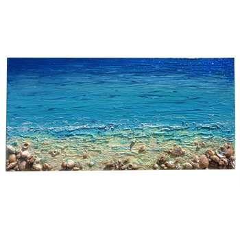 """ULTIMA CREAZIONE!!!! """" Ricordi del mare """" Materico acrilico e tecniche decorative su tela con applicazione di sabbie, graniglie e conchiglie vere di mare. Il mare in tempesta lascia spesso i suoi segreti sulla spiaggia e tra gli scogli: le conchiglie. Nel quadro di mare, in rilievo sono stati applicati colori con tonalità luminose e gusci di molluschi impreziositi da glitter e sabbie.."""