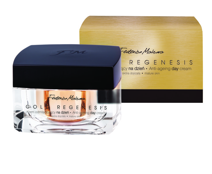 Gold Regenesis κρέμα ημέρας ένα πολυτελές καλλυντικό που προορίζεται για την ώριμη επιδερμίδα.