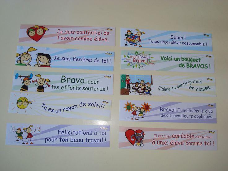 Des signets de lecture pour encourager vos élèves :)  | L'indispensable http://lindispensable.ca/Produits/Lessignets.aspx