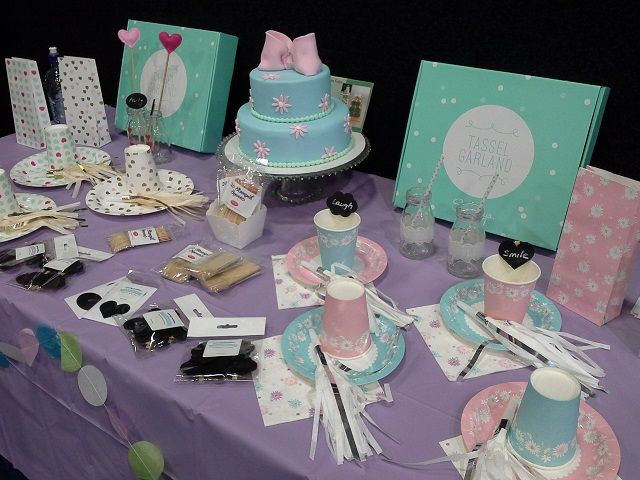 Showcasing the beautiful Sundays partyware range at the Spring Gift Fair 2014