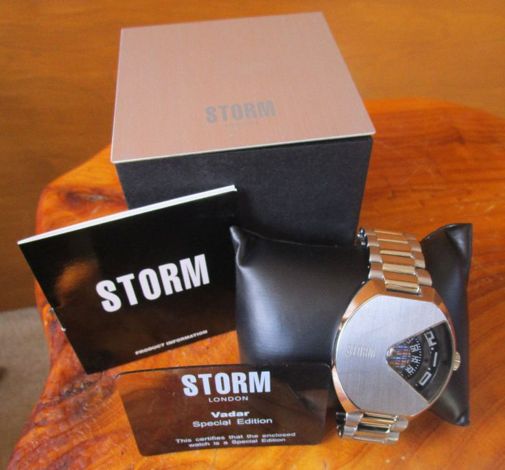 Mens Watch Storm London Vadar Special Edition Stainless Steel Water Resistant #Storm
