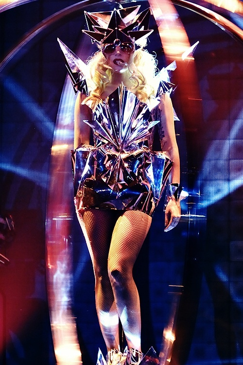 What Material Is Gaga S Monster Ball Metallic Dress Made