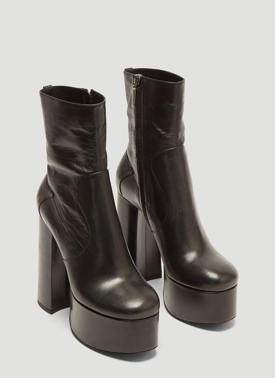 29aa57bb4fbf Saint Laurent Billy Platform Boots in Black
