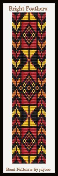 Bead Pattern Bright Feathers Loom Stitch